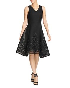 Donna Karan - Mesh Fit-and-Flare Dress