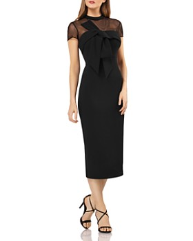 JS Collections - Illusion Neck Midi Dress