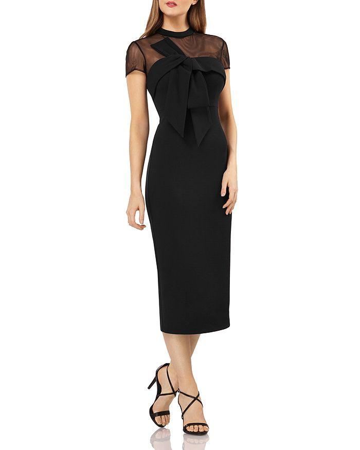 JS Collections - Illusion Neck Midi Dress