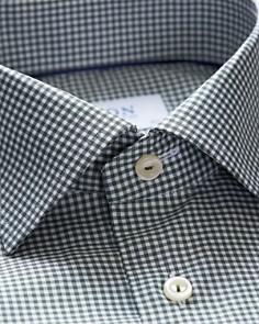Eton - Micro-Gingham Slim Fit Dress Shirt