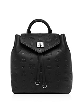 MCM - Essential Monogrammed Small Leather Convertible Backpack