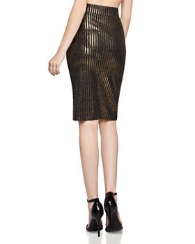 BCBGeneration - Metallic-Stripe Pencil Skirt