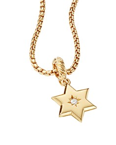 David Yurman - Star of David Pendant in 18K Yellow Gold with Diamonds