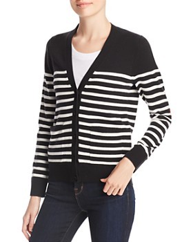 kate spade new york - Striped Heart Patch Cardigan
