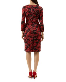 HOBBS LONDON - Sacha Ruched Botanical Print Dress