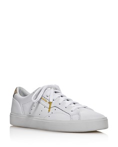 Adidas - Women's Sleek Low Top Leather Sneakers