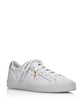 Adidas - Women s Sleek Low Top Leather Sneakers ... 4989c5971
