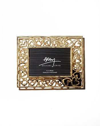 "Michael Aram - Gold Heart Frame, 4"" x 6"""