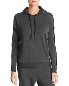 Beyond Yoga - Shine On Velvet-Stripe Hooded Sweatshirt