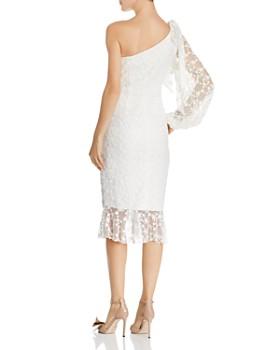 Keepsake - Retrospect Embroidered Asymmetric Midi Dress
