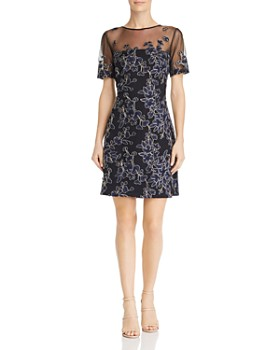 Tadashi Petites - Floral Embroidered Dress
