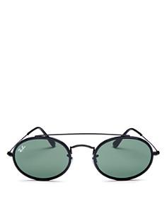 Ray-Ban - Men's Brow Bar Round Sunglasses, 53mm