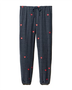 CHASER - Heart Print Sweatpants