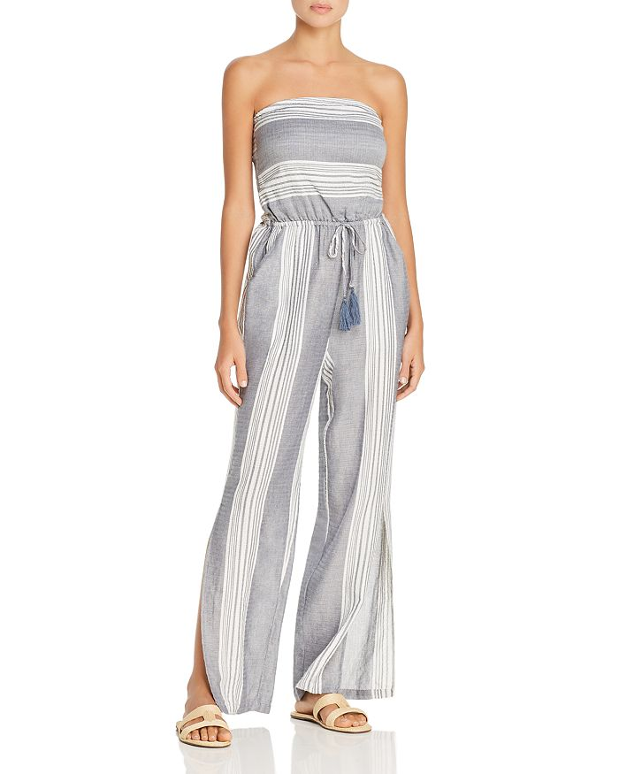 Surf Gypsy - Striped Tie-Back Jumpsuit Swim Cover-Up