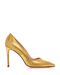 Stuart Weitzman - Women's Anny Pointed Toe Curved Pumps