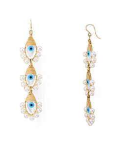 Beck Jewels - Lolita Evil Eye Linear Drop Earrings
