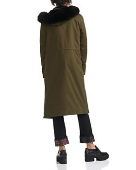 Maje - Groomy Faux-Fur Trimmed coat