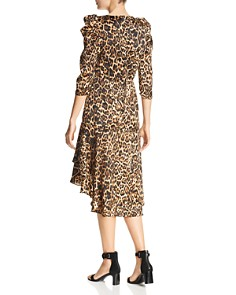 Lucy Paris - Drew Puff-Sleeve Leopard Dress