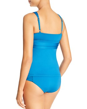 Soluna - Color Run Tankini Top & Ruched Bikini Bottom