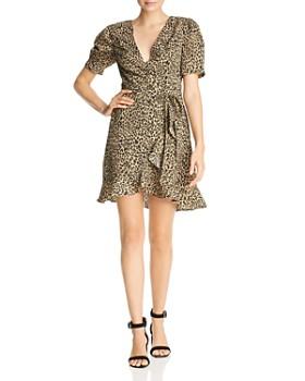AQUA - Leopard Print Wrap Dress - 100% Exclusive