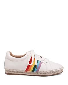 Splendid - Women's Sada Rainbow Striped Leather Sneakers