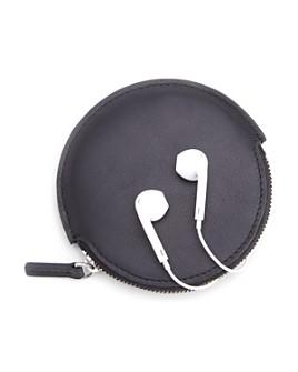 ROYCE New York - Circular Leather Earbud Travel Case