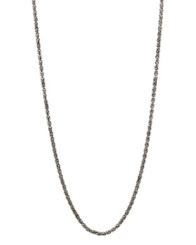 """John Varvatos Collection - Sterling Silver Chain Necklace, 24"""""""