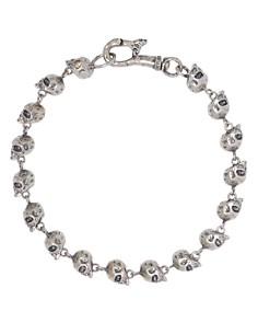 John Varvatos Collection - Sterling Silver Skulls & Daggers Skull Bead Link Bracelet