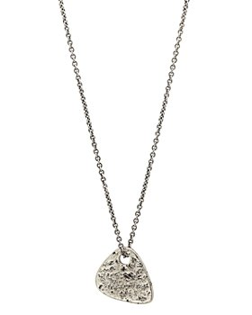 John Varvatos Collection - Sterling Silver Guitar Pick Pendant Necklace, 24""