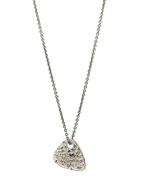 "John Varvatos Collection - Sterling Silver Guitar Pick Pendant Necklace, 24"""