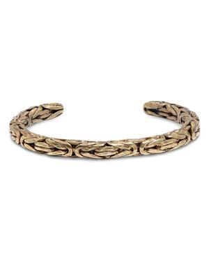 John Varvatos Collection Braided Brass Cuff