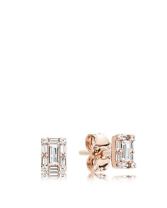 PANDORA - Rose Gold Tone-Plated Sterling Silver & Cubic Zirconia Luminous Ice Stud Earrings