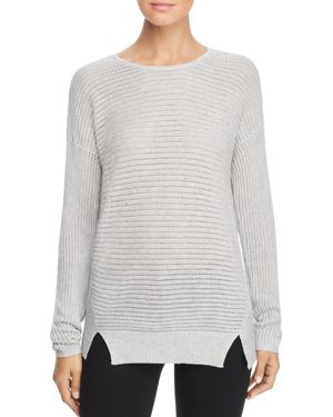 DESIGN HISTORY Donegal Pointelle Tunic Sweater in Gray