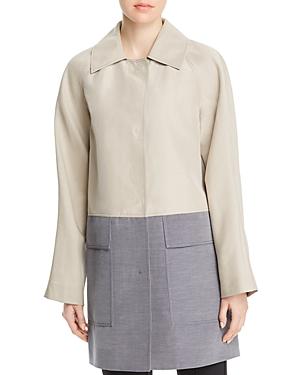 Lafayette 148 New York Maryann Color-Block Coat