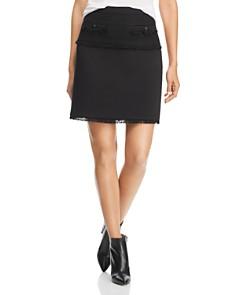 KARL LAGERFELD Paris - Tweed & Ponte Fringe Skirt