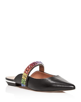 Kurt Geiger - Women's Princely Embellished Pointed-Toe Mules