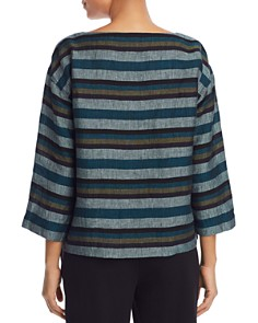 Eileen Fisher Petites - Striped Organic Linen Top