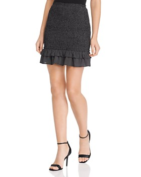 Sage the Label - Strawberry Fields Smocked Cropped Mini Skirt
