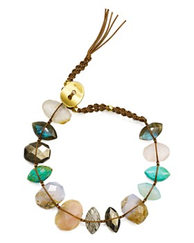 Chan Luu - Mixed Nugget Bracelet in 18K Gold-Plated Sterling Silver