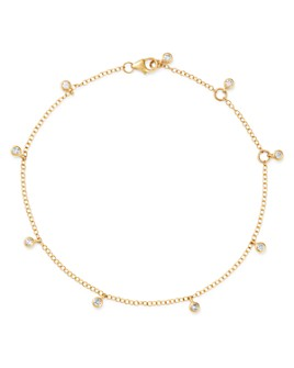 Bloomingdale's - Diamond Bezel Set Station Bracelet in 14K Yellow Gold, 0.25 ct. t.w. - 100% Exclusive