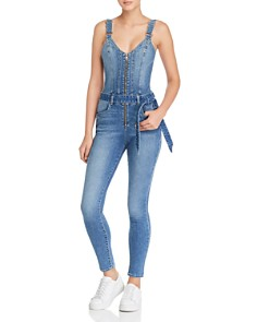 GUESS - Kaia Belted Denim Jumpsuit