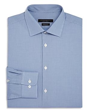 John Varvatos Star Usa Micro-Check Regular Fit Dress Shirt