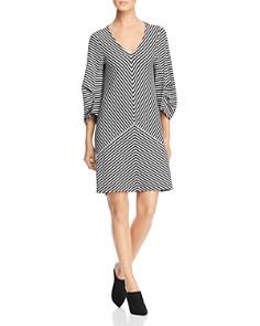 Kenneth Cole - Striped Draped-Back Dress