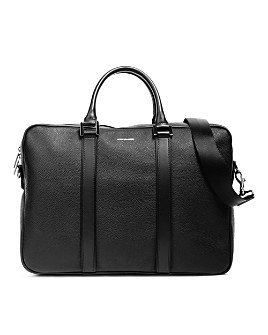 Hook and Albert - Pebbled Leather Formal Computer Briefcase
