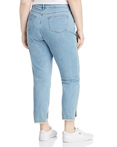 Eileen Fisher Plus - Step-Hem Ankle Slim Jeans in Frost
