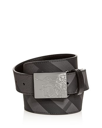 Burberry - Men's Plaque Buckle Check Leather Belt