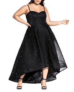 City Chic Plus - Embellished High/Low Gown