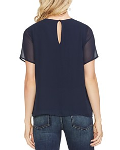 VINCE CAMUTO - Sequined Sheer-Detail Tee