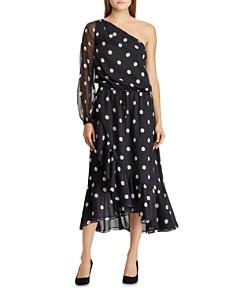 Ralph Lauren - Dotted One Shoulder Midi Dress
