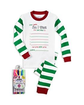 Sara's Prints - Unisex Color Me Pajama Shirt & Pants Set with Fabric Markers - Little Kid